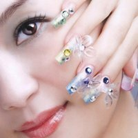 Wholesale 500 Hot Fashion Women Lady Clear Media False Acrylic Artificial Nail Art Tips order lt no track