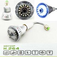 Wholesale E27 Bulb CCTV Security DVR Camera Motion Dection Night Vision Home Security DVR Camera Digital Video Recorder E14 Extension Lamp Holder