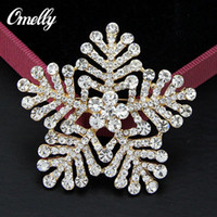 Wholesale Gold Silver Plated Crystal Rhinestone Flower Brooches Pins Snowflake Wedding Bouquet Brooches Broach Jewelry In Bulk