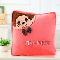Wholesale monchhichi cm open cm cute cartoon bolster quilt blanket patternslion totoro gift toys for child baby kid girlfriend