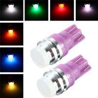 Wholesale T10 W5W SMD COB Changing Color RGB LED Car Auto Wedge Side Light Lamp Bulb DC12V