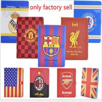 Wholesale World cup football club pattern leather cover for ipad air air barcelona tablet case with stand