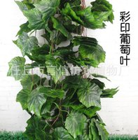 Wall Mounted artificial grape vines - 2016 Elegant Artificial Silk Wall hanging simulation Plant cane vines Wedding Centerpieces Ornament grape vine BSH25