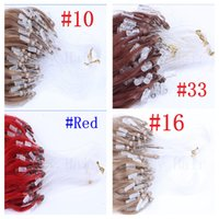 indian head rings - Micro Ring Loop Hair Extension Full Head Set Micro Beads Natural Remy Hair Straight b Off Black g s g colors