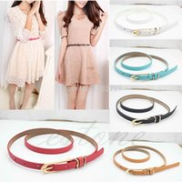 Wholesale genuine leather long agings belts mixed pigskin female belts thin belts belly chain female belt for women