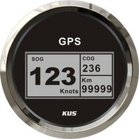 Wholesale 85mm digital GPS speedometer speedo GPS speedometer for car truck universal motorcycle black faceplate V V