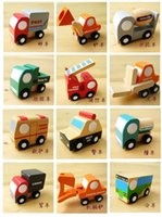 baby model japan - japan wooden minicar model car airplane military wehicle baby wooden toys for a set