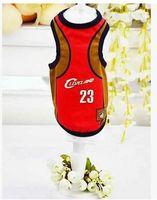 Wholesale The dog dog clothes mesh vest Pet clothing supplies The dog dog basketball clothing manufacturer
