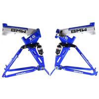 alloy fold bikes - BMW X6 Mountain Bike Frames Aluminum Alloy Bike Frame Full Suspension Folding Bike Frames on Discount A16