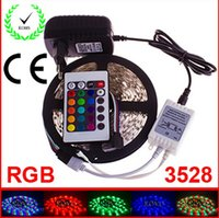 led strip light led strip lamp led flexible strip - RGB LED Strip M Led Non Waterproof SMD Key IR Remote Controller V A Power Adapter Flexible Light Led Tape Lamps