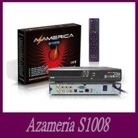 Wholesale 2015 hot sale Original azamerica s1008 Brazil World Cup set top box IKS SKS Support IPTV