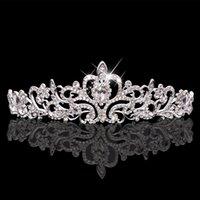 Wholesale Shinning Bridal Crown Crystal Diamonds High Quality Wedding Jewelry Accessories Tiaras Hair Headwear Jewelry Women Tiaras WWL