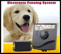 Wholesale Waterproof Rechargeable Electric Dog Fence System Shock Collar For Dog AU US EU UK Plug dog training electric pet fencing system