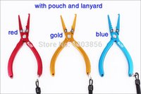 Wholesale Ilure with pouch and lanyard Multifunction Pliers Aluminium Alloy g cm pliers fishing tools