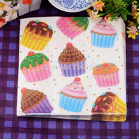 Wholesale 2014 New colored facial tissue paper napkin paper for wedding party tissue paper birthday cake cupcakes X33CM SETS