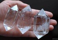 crystal quartz double point - 10pcs free fedex free ship natural quartz rock crystal double terminated point healing ww