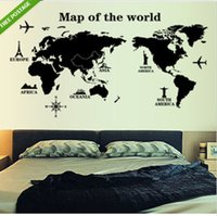 aestheticism art - Newest Reusable PVC Map of The World Wall Sticker Art Removable Decal Aestheticism Mural Home Office Decoration