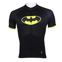 apparel rider - Hot sale Superheroes Batman Mens short Sleeve cycling jerseys bike clothing Rider Apparel S XL Cycling Clothes road bike clothing sets