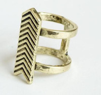 arrows orders - Min order is mix order Retro Punk Agitation Exaggerated Female Arrow Ring J085