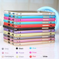 For Apple iPhone case arcs - For iPhone Arc Luxury Slim Thin Double Color Case Cover Aluminium Alloy Metal Bumper Frame For iPhone s s plus plus