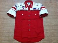 austin autos - new DUCATI austin superbike motorcycle auto race team pit crew shirt la camisa chemises red Size S M L XL XXL