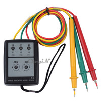 Wholesale 200V V AC Phase Rotation Indicator Tester Meter withe Buzzer CSY08 order lt no tracking