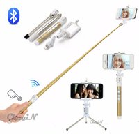 Wholesale Newly Design BT Bluetooth Selfie Stick Selfie Extensible Handle Tripod Self Timer Detachable Mode Suit For iPhone Plus Note