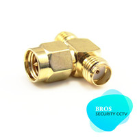 Wholesale 5pcs one SMA Male to two SMA Female Jack Adapter T Connector