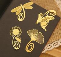 Wholesale 2016 new Fashion vintage exquisite plant cutout blade metal bookmark metal openwork bookmark Filing Supplies