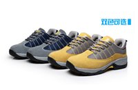 steel toe safety shoes - 2015 new style hot selling work shoe yellow color working boots steel toe leather safety working shoes for men