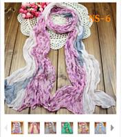 Wholesale 20PCS Sexy Women Cheap Floral Cotton Scarfs Chiffon shawls Women Silk Scarves Quatrefoil Scarf Infinity Scarves