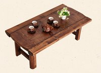 antique wooden benches - Vintage Wooden Table Foldable Legs Rectangle cm Living Room Furniture Asian Antique Style Long Bench Low Coffee Table Wood