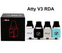 2,015 New Atty V3 RDA atomiseur 22mm Diamètre Place Rebuidable Wotofo Atty3 Clone 3.0 Réservoir Goutte adapter Castigador Dos Equis Snowman Box Mod DHL