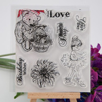 baby seal photos - 11 cm Love Baby Transparent Clear Silicone Stamp Seal for DIY scrapbooking photo album Decorative clear stamp sheets
