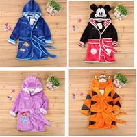 baby tigger - Tigger Mickey bathrobe Cartoon Winter Robe Baby Girls Bathrobe Sleepwear Child Warm Pajama Christmas Homewear Dhgate New