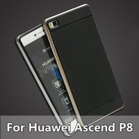 ascend case - Ascend P8 Ultra Slim Case For Huawei Ascend P8 Double Hybrid Soft TPU Hard PC Back Cover Housing For Huawei P8 Mobile Fundas