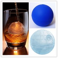 Wholesale FreeDHL Silicone Ice Tray Cube Mold Maker Ice ball Mould bar party freezing Death star wars Ice Mold Desert Sphere Mold D716L