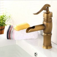 antique bath sink - brass antique bathroom taps deck mounted classic style brass brushed basin sink mixer tap faucet luxury bath taps A F022