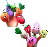Cheap hot new 100PCS LOTFruit & Veggie finger puppets set Finger Puppet Dolls Toys Story-telling Props Tools Toy Model Babies Kids Children Toys