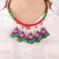 amaryllis wedding - Europe and the United States act the role ofing is tasted Chinese national wind more color embroidery amaryllis pendant necklaces earrings s