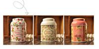 al por mayor lata de té de la flor de la vendimia-Caja de la caja de la lata de la caja de la caja de la lata de la serie del flor del estilo de la vendimia de la VENTA CALIENTE Caja del hierro del organizador