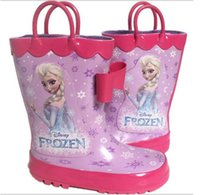 child boots - Hot Sale New Frozen Elsa Princess Boot Girl Cute Rubber Rain Boots Children s Shoes Girl Boots Frozen Shoes