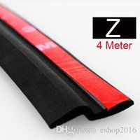 Wholesale 4Meter Z type M adhesive car rubber seal Sound Insulation car door sealing strip weatherstrip edge trim noise insulation