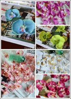 artificial orchid flower - 11CM orchid flowers artificial flower petals silk orchid petals pefect for wedding decoration home decor artificial orchid fabric