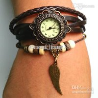 Wholesale Bracelet Colors Dry Retro Vine leather watch punk personality men and women wrist watch Leisure dress watches gifts
