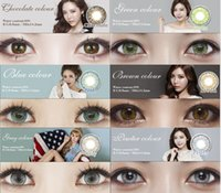 cosmetic contact lenses - Colorful colors in stock eye contactLenses Cosmetic contact lenses eye color yearly use mm Freeshipping