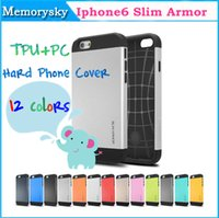 Wholesale New Arrival quot SPIGEN SGP Slim Armor Case For iPhone i6 TPU PC Hard Phone Cover Bags for iphone6 colors