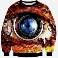 bape camera - Raisevern new D sweatshirts camera lens big eye print top hoodies skulls d sweatshirt hoody long sleeve casual pullovers