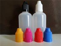 Wholesale E Cig Plastic Dropper Bottle With Childproof Cap And Long Thin Tip Empty Bottle ml E liquid Bottles