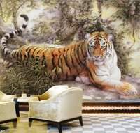 animal photo gallery - Chinese painting Wall Mural Tiger photo wallpaper Custom Animal Wallpaper Giant Art Room decor Bedroom Kid s room Living room Office gallery